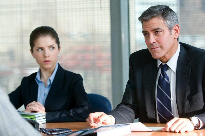 Szenenbild aus UP IN THE AIR - Anna Kendrick und George Clooney - © Paramount Pictures