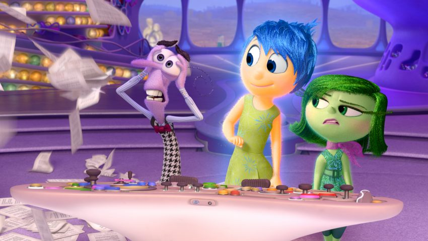 ALLES STEHT KOPF - INSIDE OUT - Angst (Bill Hader), Freude (Amy Poehler) und Ekel (Mindy Kaling) - ©2015 Disney•Pixar. All Rights Reserved.