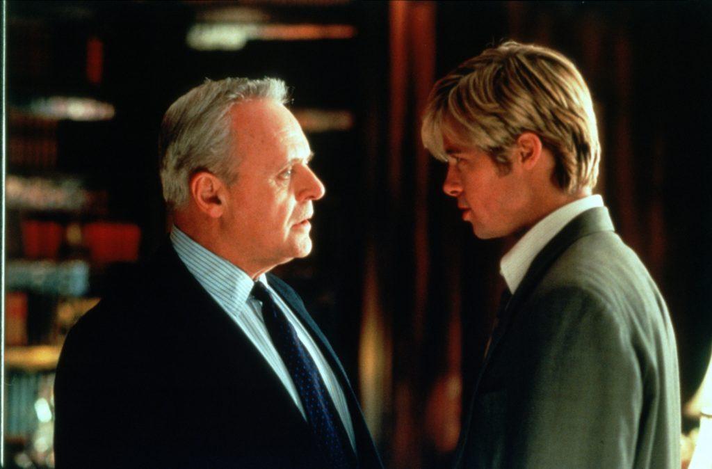 William Parrish (Anthony Hopkins) und Joe Black (Brad Pitt) - © Universal Pictures Germany