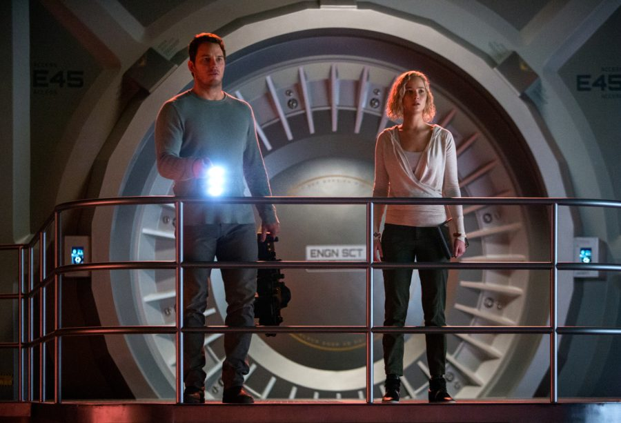 Jim Preston (Chris Pratt) und Aurora Lane (Jennifer Lawrence) - © Sony Pictures