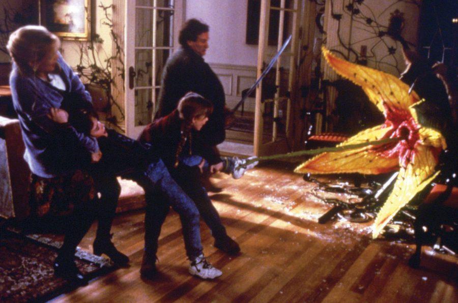 Szenenbild aus JUMANJI (1995) - Im Kampf gegen die Schlingpflanzen - © Sony Home