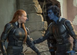 Szenenbild aus X-MEN: APOCALYPSE - Jean Grey (Sophie Turner) und Nightcrawler (Kodi Smit-McPhee) - © 2016 Twentieth Century Fox Home Entertainment