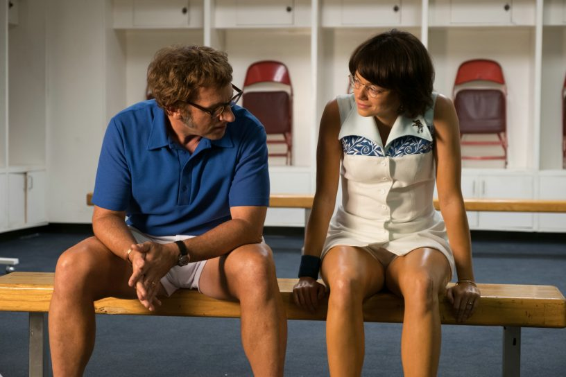 Szenenbild aus BATTLE OF THE SEXES (2017) - Bobby Riggs (Steve Carell) und Billie Jean King (Emma Stone) - © 20th Century Fox