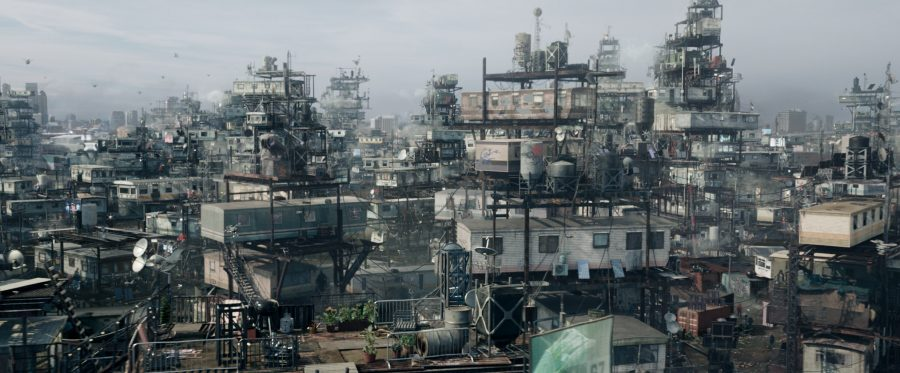 "Szenenbild aus READY PLAYER ONE (2018) - Die ""Stacks"", das Ghetto von Columbus, Ohio im Jahr 2045 - © Warner Bros. Pictures"
