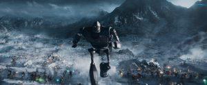 Szenenbild aus READY PLAYER ONE (2018) - Der Gigant aus dem All zieht in die Schlacht - © Warner Bros. Pictures