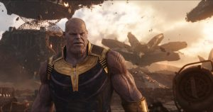 Szenenbild aus Marvels AVENGERS: INFINITY WAR (2018) - Endgegner Thanos (Josh Brolin)..Photo: Film Frame.©Marvel Studios 2018