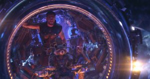 Szenenbild aus AVENGERS: INFINITY WAR (2018) - Thor (Chris Hemsworth), Rocket (voiced by Bradley Cooper) and Groot (voiced by Vin Diesel)..Photo: Film Frame..©Marvel Studios 2018