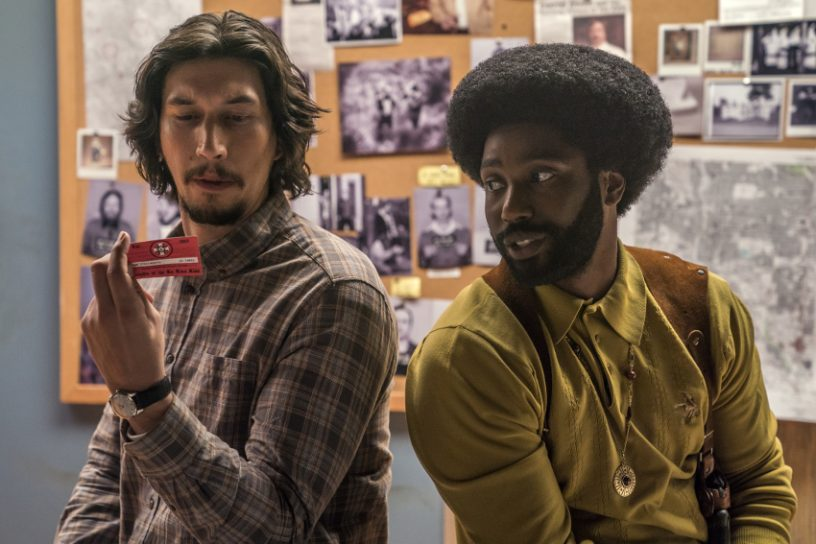 Szenenbild aus BLACKKKLANSMAN (2018) - Flip Zimmerman (Adam Driver) und Ron Stallworth (John David Washington) - © Universal Pictures - Credit: David Lee / Focus Features