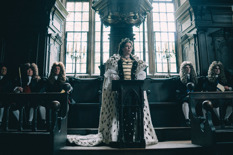 Szenenbild aus THE FAVORITE - Queen Anne (Olivia Colman) - © 20th Century Fox