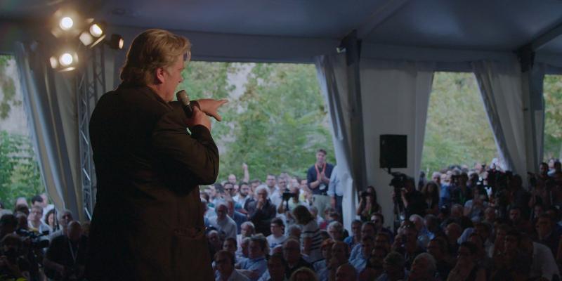 Szenenbild aus THE BRINK (2019) - Steve Bannon mobilisiert die Massen. - © Filmfest München